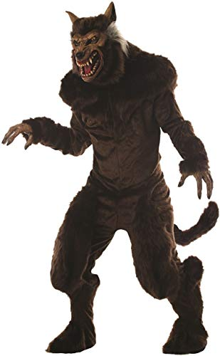 Mario Chiodo Men's Ultra Deluxe Werewolf Costume Monster Animal Beast Halloween One Size Fits Most Brown -