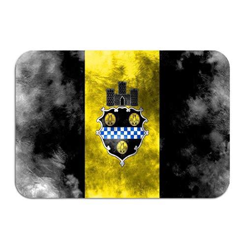 Pittsburgh Flag City (Carpet Rug Door mat Pittsburgh City Grunge Flag Pennsylvania State United States America 16 24 inch)