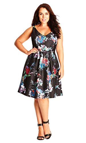 Dress Fit 16 Oriental amp; Flare Black S in Size p7qzOx