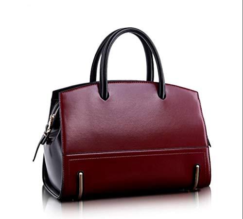 6 backpack Crossbody inch 9 Red bag Leather 2 Bags Wine Ms Shoulder LXopr Genuine 5 8 12 RgqYv