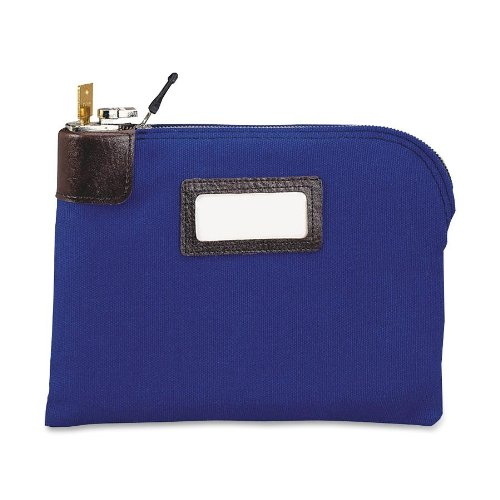 MMF Industries Seven-pin Security/Night Deposit Bag with 2 keys, 11 x 8-1/2 Inches, Royal Blue (2330881W08) (Account Pin)