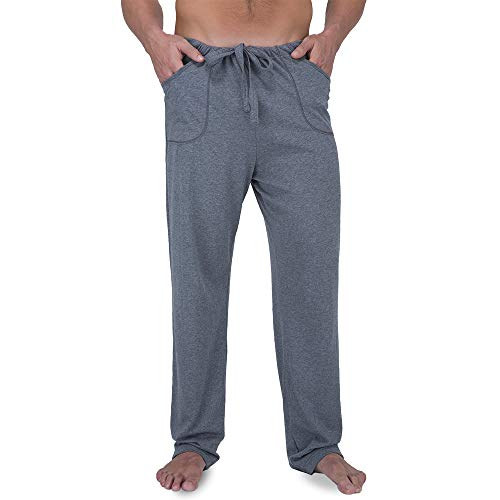 57b0bc72a1 Cottonique Men s Drawstring Lounge Pants (L XL) Melange at Amazon Men s  Clothing store