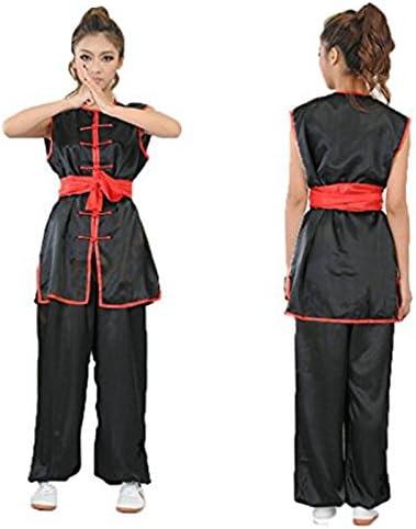 para ni/ños y ni/ñas kung-fu y wing chun nanquan ZooBoo ropa de entrenamiento para k/árate sanda chino hapkido taekwondo seda sint/ética negro con cintur/ón Uniforme para artes marciales