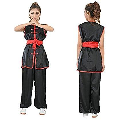 8231c546c ZooBoo Karate Martial Arts Uniform - Nanquan Taekwondo Hapkido Sanda  Chinese Kung Fu Wing Chun Training Clothes Apparel Clothing with Belt for  Seniors ...