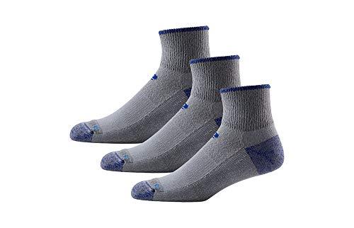 R-Gear Drymax Hiking Socks Medium Cushioned, Quarter Length Men & Women (3-Pairs) | Keep Feet Dry, Comfy Blister Free