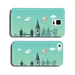 Flat design London City landscape cell phone cover case Samsung S5