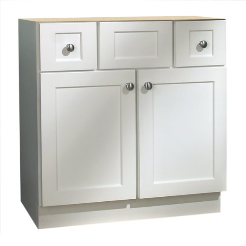 Shaker Wood Vanity (Coastal Collection CAP-3021 Cape Cod Series Maple with White Finish Vanity Base,)