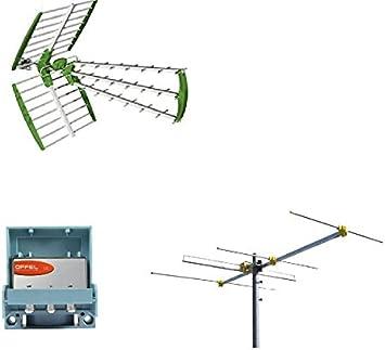 Kit de antena digital terrestre DVBT UHF + VHF HD + mezclador ...