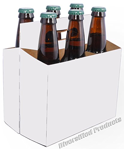 White Six Pack Beer Boxes - Case of 160 by Diversified
