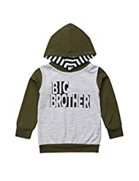 FAROOT Big Brother Little Brother Shirt Outfits Hoodie Sweatshirt Long Sleeve Romper Jumpsuit Summer Clothes Set