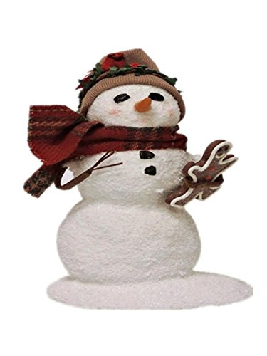 Byers' Choice Small Snowman with Gingerbread SN2W- New for 2016