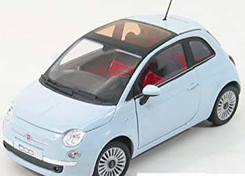 Fiat 500 2007 In Light Blue Scale 1 43 Amazon Co Uk Toys Games