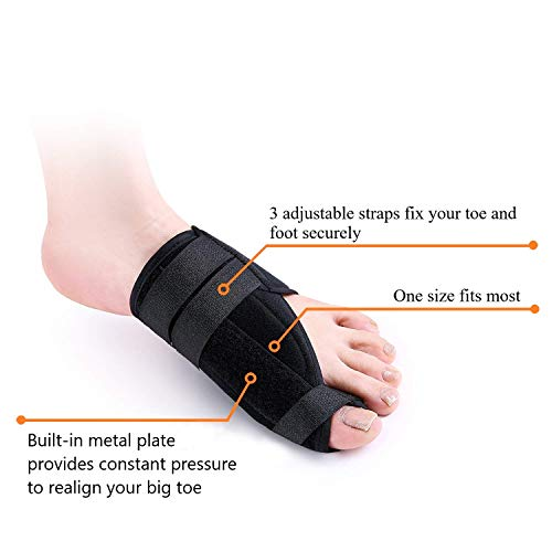 FanProd Bunion Corrector, Bunion Splint, Bunion Relief, Orthopedic Bunion Corrector, Bunion Corrector, Bunion Brace for Women, Toe Brace, Straightener, Toe Corrector, Toe Splint