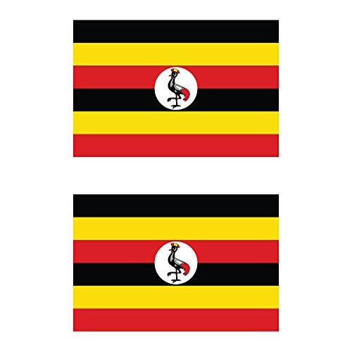 Two Pack Ugandan Flag Sticker FA Graphix Decal Self Adhesive Vinyl Uganda UGA UG