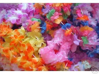 100 assorted Flower leis -wholesale LUAU party