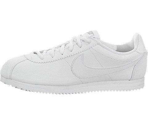 Nike Kids Cortez (GS) White/White Wolf Grey Casual Shoe 7 Kids US
