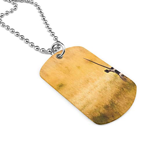 ntelope Horns Army Style Men Military Pendant Dog Tag Pendant Necklace Gift ()