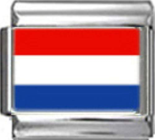 - Stylysh Charms Netherlands Holland Flag Photo Italian 9mm Link PC126