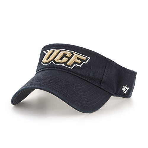 Florida Golf Central Gear - '47 NCAA Central Florida Golden Knights Clean Up Adjustable Visor, One Size, Black
