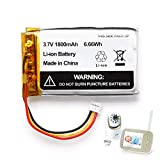 1800mAh Replacement Battery for Infant Optics DXR-8 Video Baby Monitors