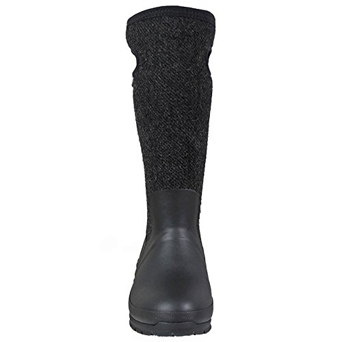LADIES BOGS CRANDALL WOOL BLACK WARM INSULATED WATERPROOF WELLINGTON BOOTS 72108-UK4 (EU37)
