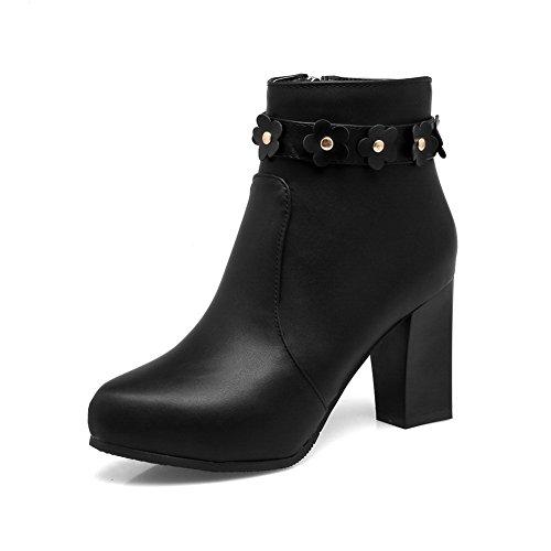 mujer Para BalaMasa cerrados Zapatos Negro q1OUFUz