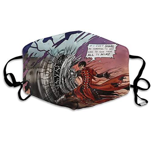 Angela R Mathews Trigun Anime/Cartoon Print Soft Mouth Mask Anti-Dust Polyester Cool Trendy Mask for Men,Women,Kids