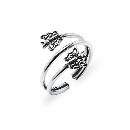 Sterling Silver Toe Ring Jewelry For Women Butterfly Wrap Band