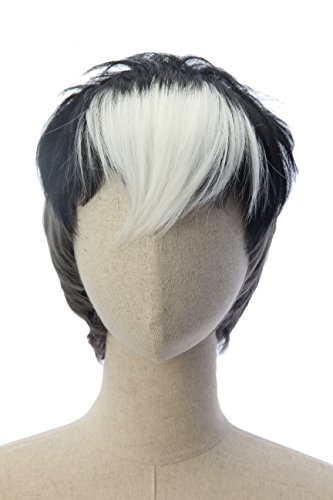 Price comparison product image Short Black and White Two Tone Anime Cosplay Costume Wigs Voltron Shiro Party Wig