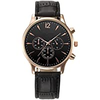 Big Promotion ! Auwer Mens Luxury Fashion Crocodile Faux Leather Analog Watch Wrist Watches (Black)