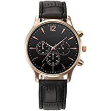 Big Promotion ! Auwer Mens Luxury Fashion Crocodile Faux Leather Analog Watch Wrist Watches (Black)