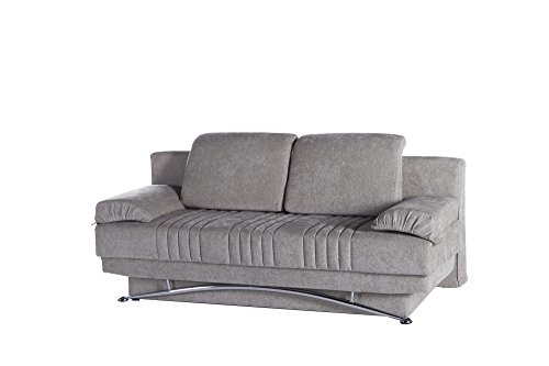 ISTIKBAL Multifunctional Futon and Sofa Queen Size Sleeper FANTASY Collection (GREY)