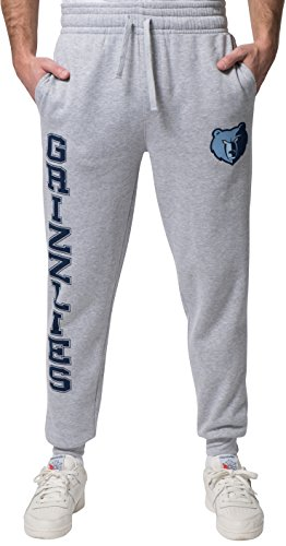 NBA Memphis Grizzlies Ultra Game Men's CVCFLC BASIC TEAM JOGGER, Heather Gray, XX-Large (Grizzlies Sweatpants)
