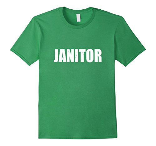 Mens Janitor Halloween Costume Party Cute & Funny T shirt Small (Funny Janitor Costumes)