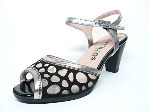 Fashion Sandals PITILLOS Black Women's Women's PITILLOS Black Sandals Sandals PITILLOS Women's Fashion Women's PITILLOS Black Fashion wfxwU