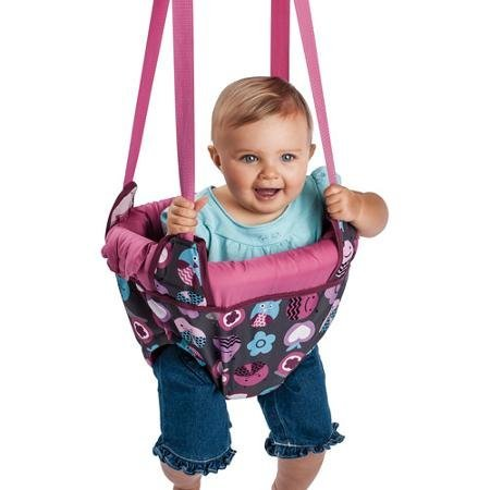 Evenflo, Jenny Jump Up, ( Pink Bumbly ) Framed Seat Fully Surrounds Child.