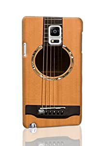 Acoustic Guitar Image Protective Hard Custom Plastic 3d Case Cover for Samsung Galaxy Note 4, Nanli 3d Case