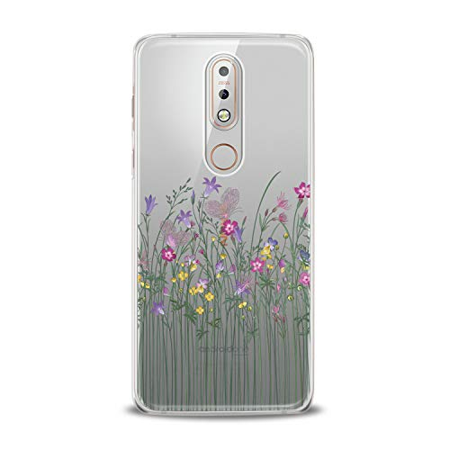 Lex Altern TPU Case for Nokia 9 PureView 8.1 Plus 7.1 6.1 X6 5.1 3.1 Cute Wildflowers Art Blossom Flexible Soft Floral Print Cover Nature Women Girls Protective Gentle Design -