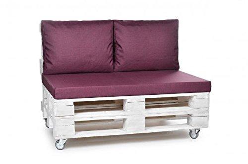 Unbekannt Matratzenkissen Palettenkissen Violett & Passende Rückenpolster Sowie Dekokissen Palette Auflage