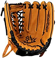 Sl-125 Leather Baseball Glove, Outfield, Size 12.5'', REG, Brown,