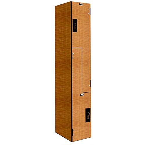 Hallowell PHL1282-ZA-FA Versamax Phenolic Wardrobe and Box Locker with Padlock Ready Color, Z-Tier, 12'' Width x 18'' Depth x 72'' Height, Figured Annigre by Hallowell