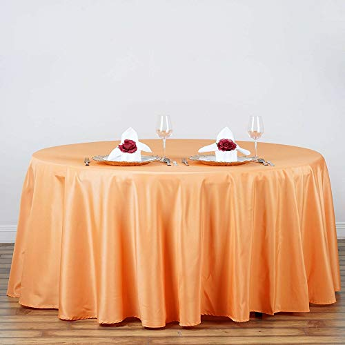 "Home Garden Orange Kitchen Dining 120"" Round Polyester Tablecloth 2pcs Tkvormart from Unknown"