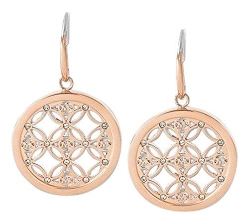 Michael Kors MKJ4279 Womens Monogram Rose Gold Tone Earrings Jewelry