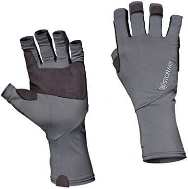 Stormrメンズ釣りコントロール耐久性手のひらグリップUV Shield Sun Gloves