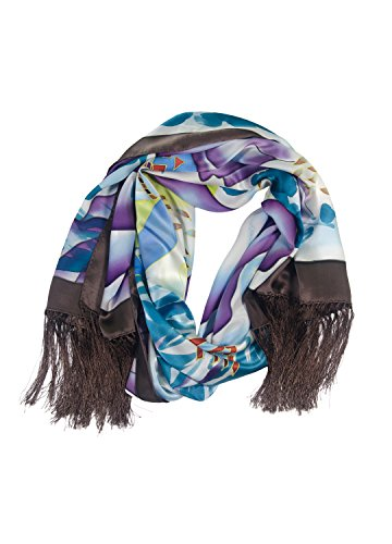 TexereSilk Women's 100% Silk Shawl Wrap (Multicolor, Unisize) Luxury Gifts for Her (Mtc Multi Color)