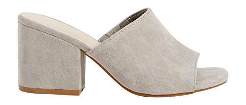 maurices Womens Justine Suede Mule Gray S8chXVaFXH