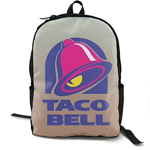 Taco Bell Logo Backpacks Anti Theft Shoulder Bags Laptop School Travel Large Bag For Men Women Black