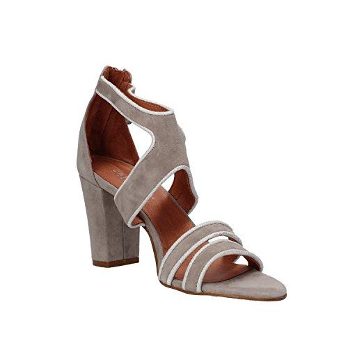 CARMENS sandali donna grigio camoscio AF497