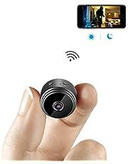 Mini Caméra Espion AOBO IP WiFi Cachée Cam HD1080P Vision Nocturne Détection de Mouvement Caméra de Surveillance de Sécurité pour iPhone/ Android/ Support Maximum Carte de 128G(Pas Incluse)