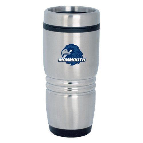 Monmouth Rolling Ridges Silver Stainless Tumbler 16oz 'Official Logo' by CollegeFanGear